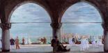 Promeneurs en Venice