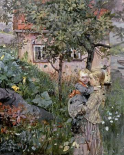 Two Sisters in a Garden