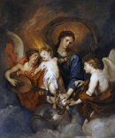 The Madonna and Child With Two Musical Angels
