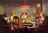 Poker Dogs: A Friend in Need, 1903