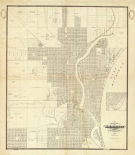 Map of Milwaukee, 1856
