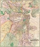 Map of The City of Boston and its Environs, 1874