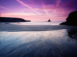 Sunrise, Broadhaven, south Pembrokeshire National Park, Wales