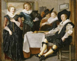 A Merry Company In An Interior