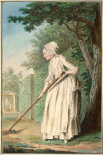 The Duchess of Chaulnes as a Gardener in an Allee, 1771