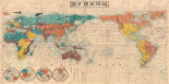 Japanese Map of the World, 1853