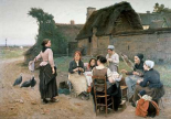 Peasant Women Chatting;Normandy