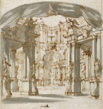 The Courtyard of a Palace: Project for a Stage, 1713