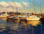 Boats on Glassy Harbor