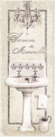 Fleur de Lis Bath Panel I