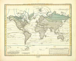 Alexander von Humboldts System Der Isotherm-Kurven, 1849