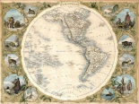 Map of the Western Hemisphere, 1850