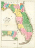 Map of Florida, 1839