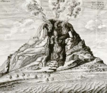 Engraving of Vesuvius Erupting
