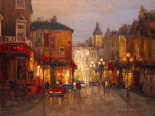 Parisian Night Scene