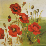 Red Poppies Composition I