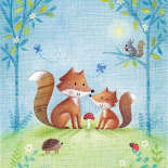 Woodland Family Fox