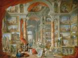 Galleria con vedute di Roma antica