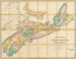 Mackinlays map of the Province of Nova Scotia, including the island of Cape Breton, 1862
