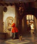 A Maid In a Hallway