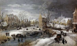 A Village In Winter