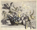 Vintage Basket of Flowers I