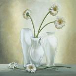 Vasi bianchi con gerbere
