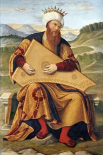 King David Playing a Psaltery