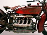 Detail of 4 cylinder Indian Ace 1929