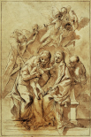 Holy Family with Saint Anne (recto); Figure Sketches (verso)
