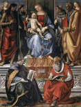 Madonna With Child Among Saints