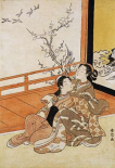 Two Women Seated By a Verandah