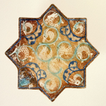 Star Tile with Animal Motifs