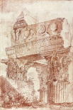 Sketch of Roman architectural fragment, 1786
