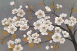 Gold Leaf Blossom Branch