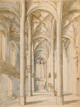 Interior of a Gothic Church, 1629