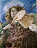 Music Making Angel With Drum
