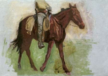 Sketch For Cowboys In The Badlands