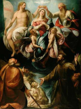 Coronation of the Virgin with Saints Joseph and Francis of Assisi