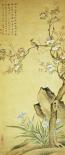 A Bird Standing On a Peach Blossom Tree