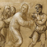 Christ Carrying the Cross (recto); The Resurrection (verso)