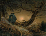 Two Men, Looking At The Moon
