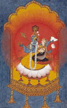 Vishnu and Lakshmi Enthroned