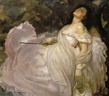 A Lady Reclining In The Shade