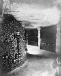 Paris, 1861 - View in the Catacombs