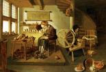 The Interior of a Cobblers Shop