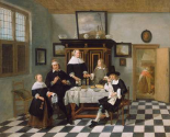 Family Group in an Interior