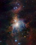 VISTAs infrared view of the Orion Nebula