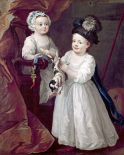 Lord Grey and Lady Mary West As Children