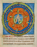 Decorated Text Page - Mary and Jesus in a Rose